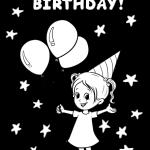 birthday girl bw