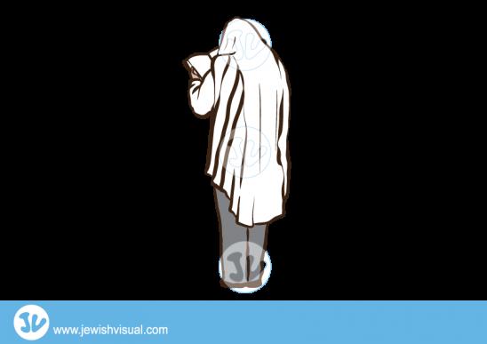 איש עם טלית מתפלל