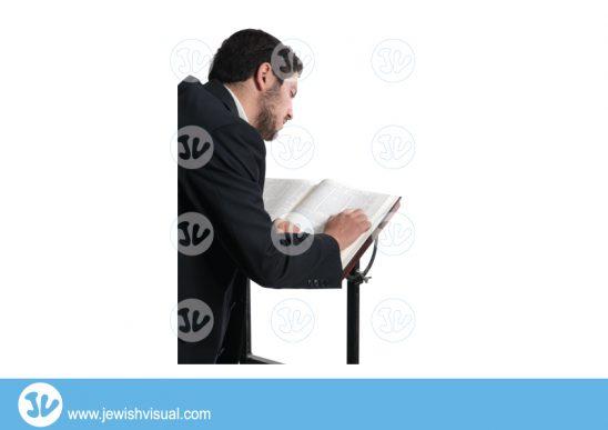 Man learning torah - behind