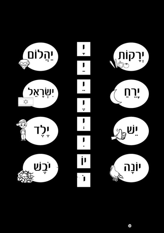 דף עבודה האות י