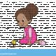 ילדה משחקת בסביבון