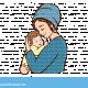 אמא מחזיקה תינוק
