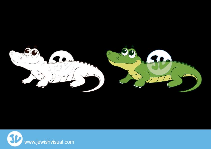 Crocodile clipart – תנין