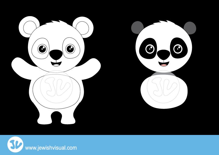 Panda Clipart – איור של דב פנדה