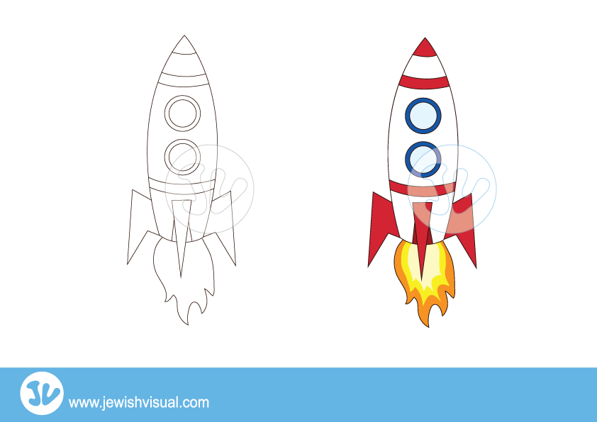 Rocket ship clipart – חללית