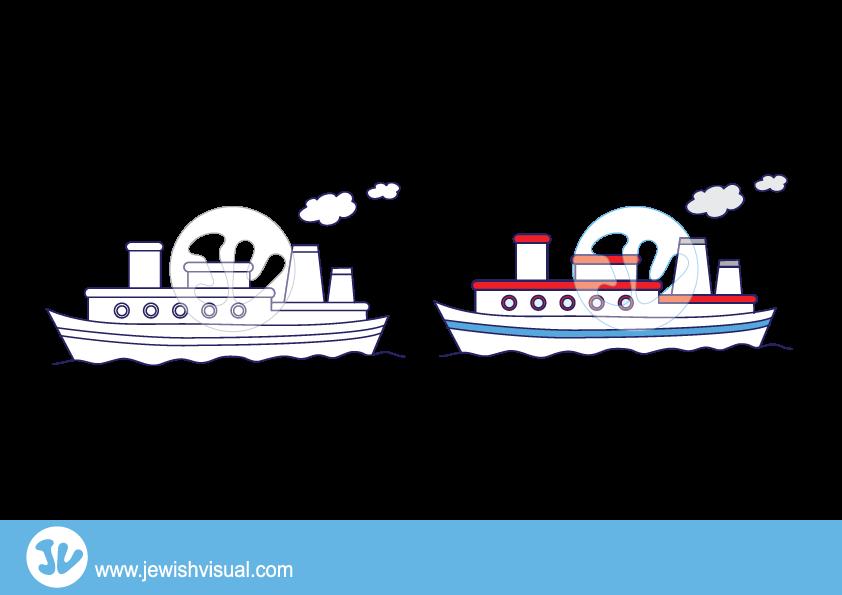 Ship clipart- איור של אוניה