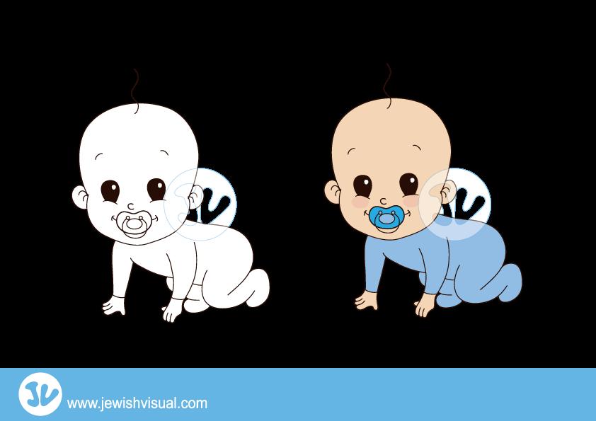 Baby boy clipart – איור של תינוק