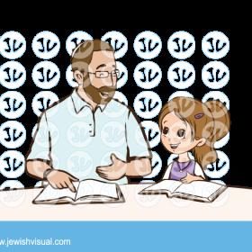 אבא ובת לומדים תורה