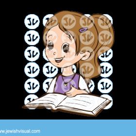 Girl learning torah