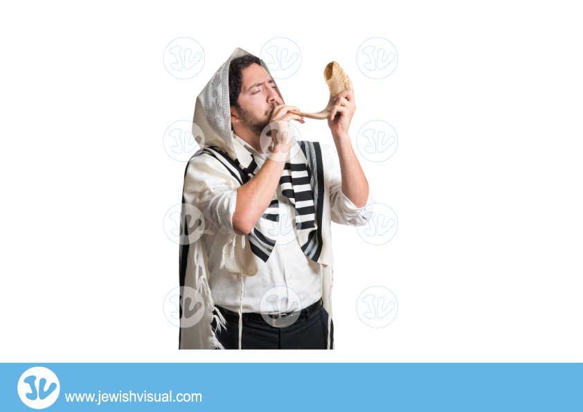 Man Blowing the Shofar – איש תוקע בשופר