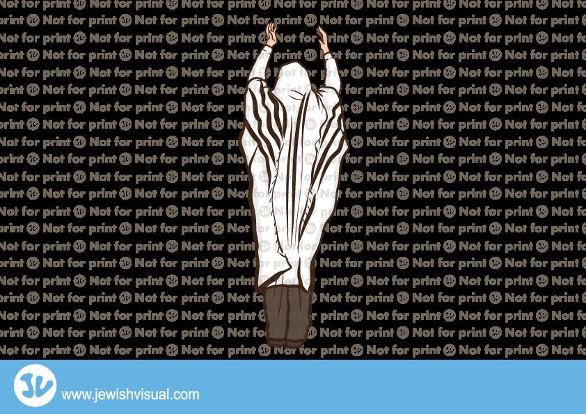 Man with Tallit praying – איש עם טלית מתפלל