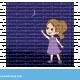 ילדה מצביעה על הירח