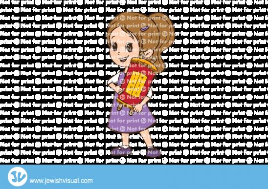 ילדה מחזיקה ספר תורה