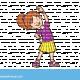 ילדה מתעמלת