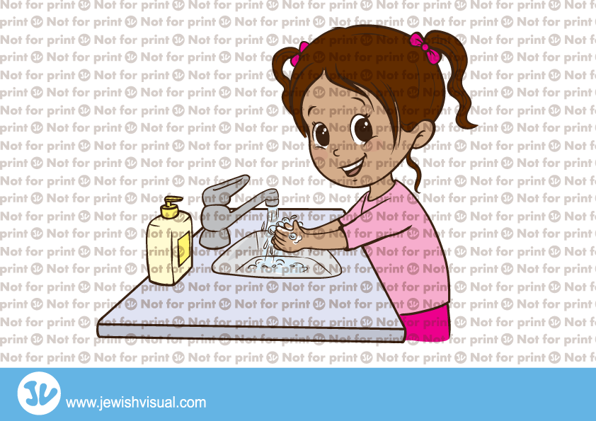 Girl washing hands – ילדה שוטפת ידיים