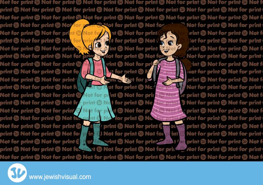 Girls back from school – בנות חוזרות מבית הספר