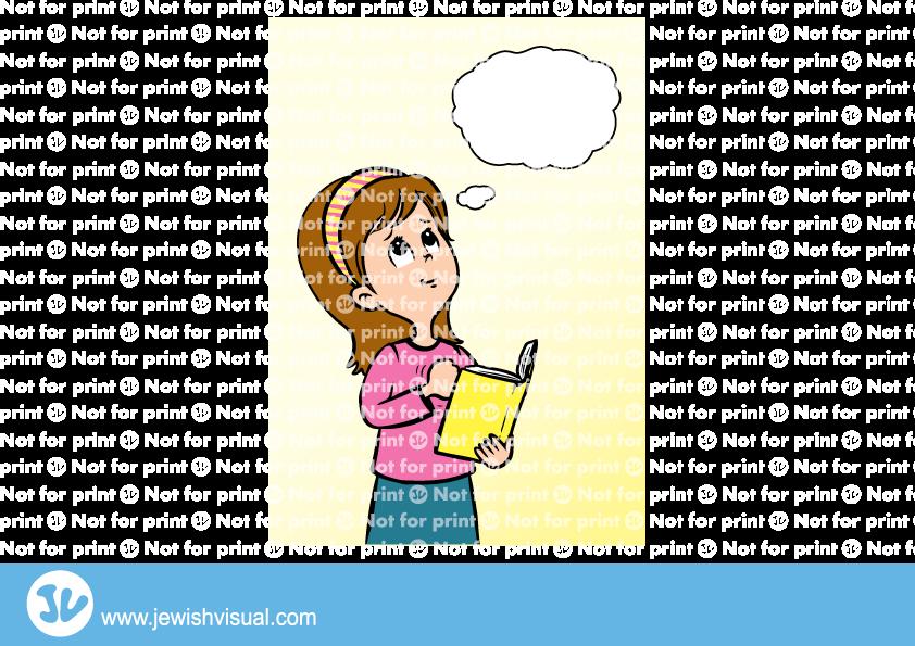Girl reciting Slichot.